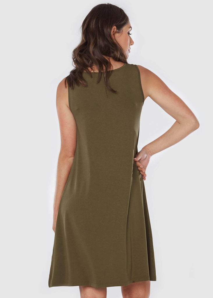 Bamboo Adele Dress - Olive