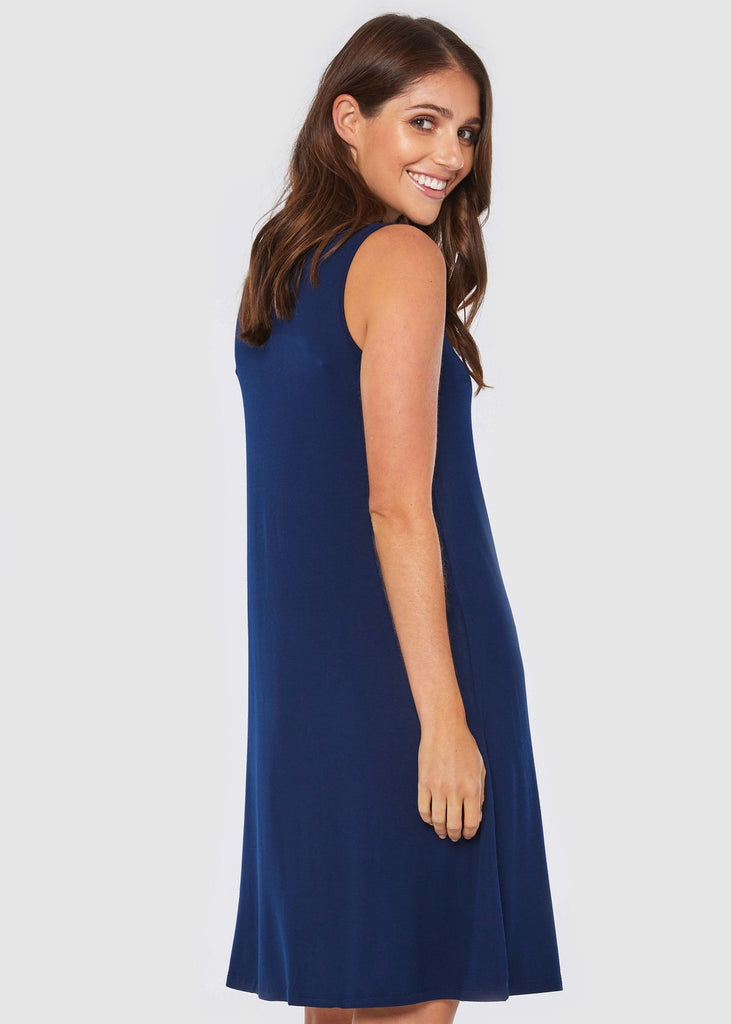 Bamboo Adele Dress - Navy