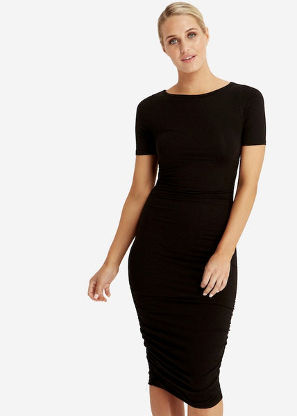 Jasper Ruched Dress - Black