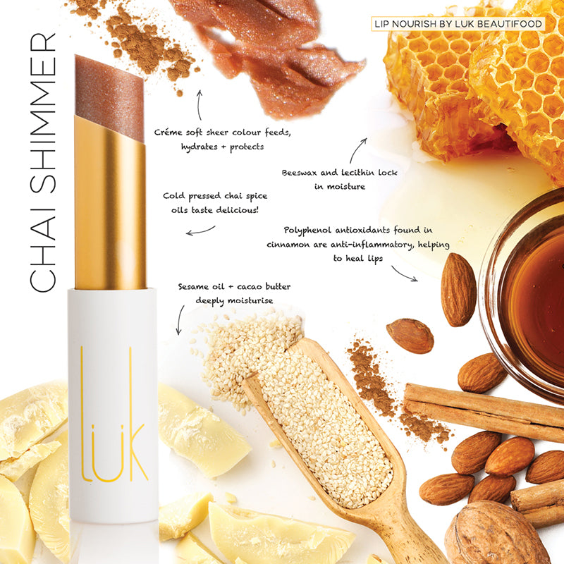 Chai Shimmer Lip Nourish - 100% Natural - Lip Nourish - Body - FOX AND SCOUT