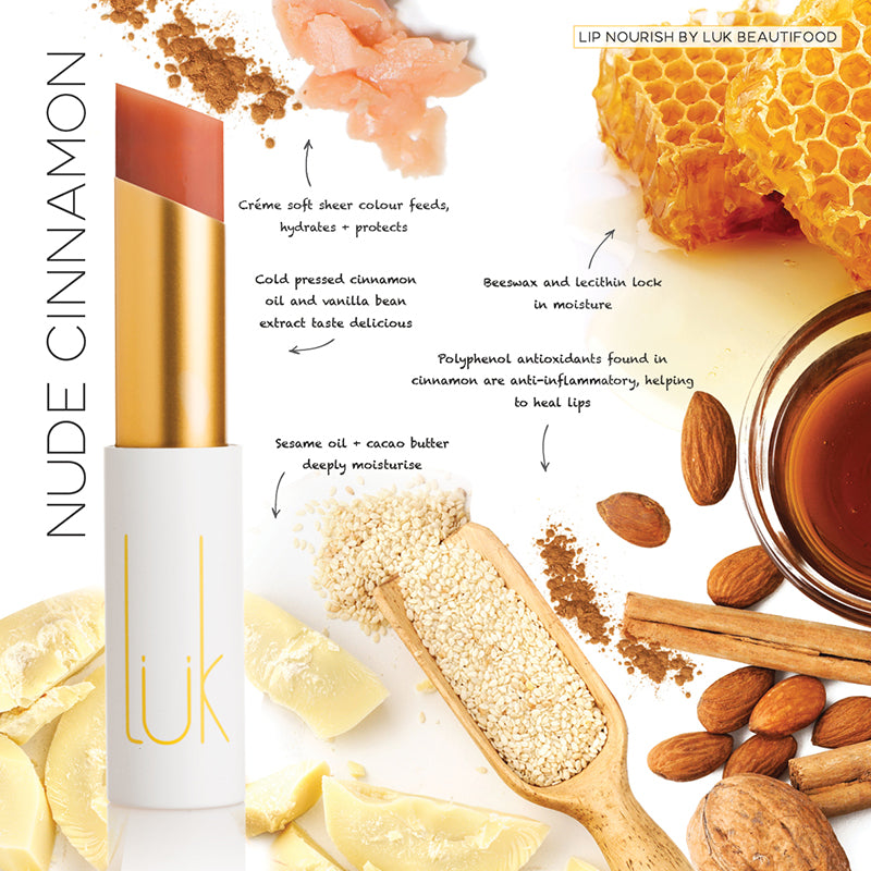 Nude Cinnamon Lip Nourish - 100% Natural - Lip Nourish - Body - FOX AND SCOUT