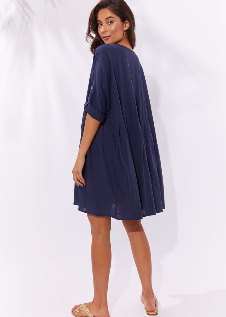 Cuban Top / Dress - Denim Navy