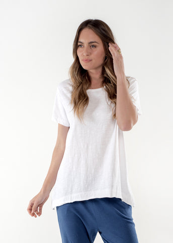 Olivia Cotton Tee - White