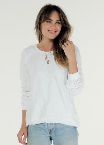 Lucy Cotton Sweater - White