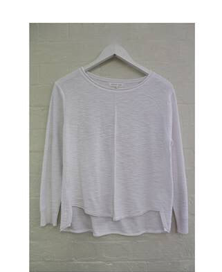 Sacha Linen Long Sleeve Top - White