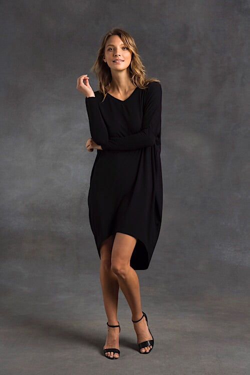 Bamboo Catherine Dress - Black - Bamboo Body - Dresses - FOX AND SCOUT