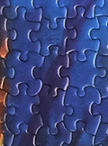 Close up of Harriet Tubman Puzzle Pieces