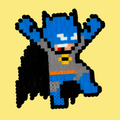 Batman Perler Art by SilvaLinings