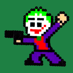 Joker Perler Art by Silva Linings