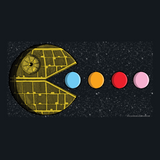 PAC-MOON Death Star Pac-Man Mashup by Aaron Gardy