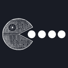 PAC's No Moon! Death Star Pac Man Mashup by Aaron Gardy