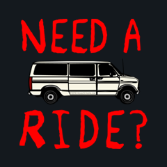 Need A Ride Creepy Candy Get in the Van Sleazy Creep by Melody Gardy