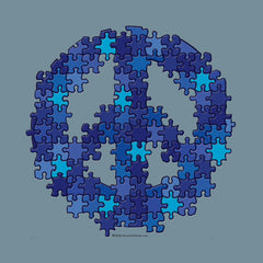 Puzzle Peace Autism Awareness by Melody Gardy + House Of HaHa