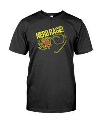 Nerd Rage Broken Glasses D20 Dice RPG Gamer Gaming T-Shirt