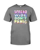 Spread Wide Don't Panic Men's T-Shirt by Melody Gardy + House Of HaHa Best Cool Funniest Funny Gifts
