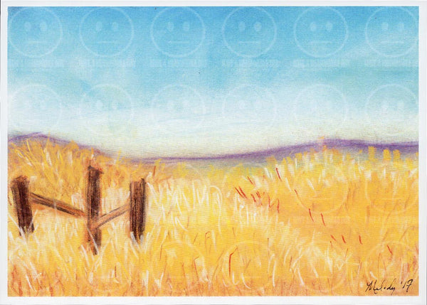 Carrizo Plains California Fence Art Print