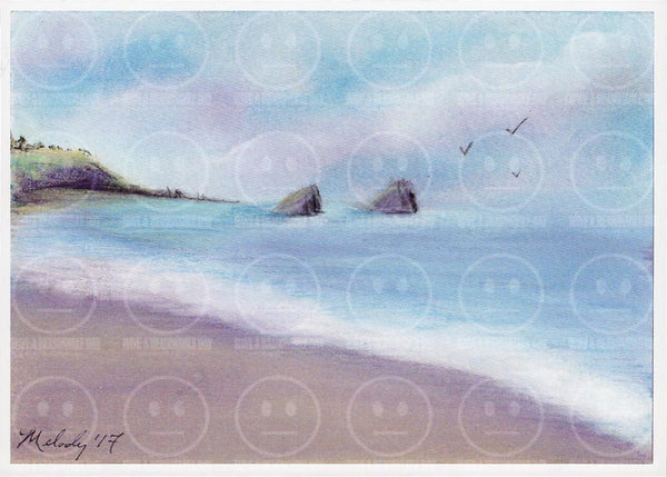 Ocean Rocks Navarro Beach California Art Print