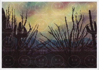 Strange Skies and Ocotillos Desert Art Print