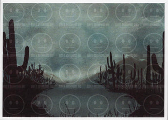 Rain in the Desert Stormy Cactus Art Print