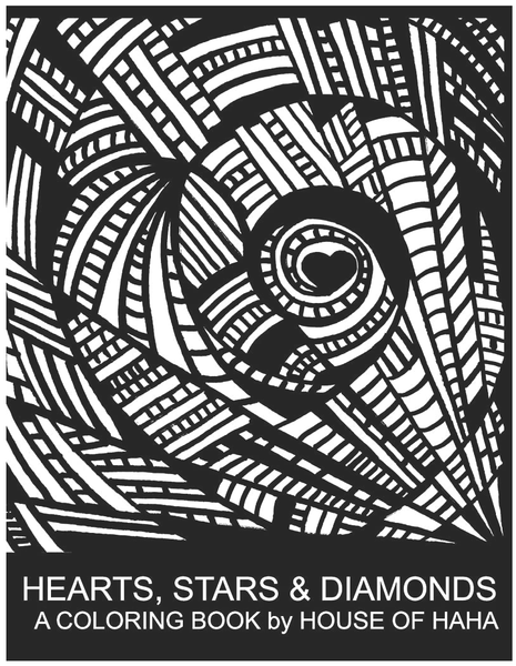 Hearts Stars & Diamonds Coloring Book