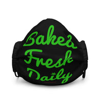 Baked Fresh Daily Cannabis Humor Premium Face Mask