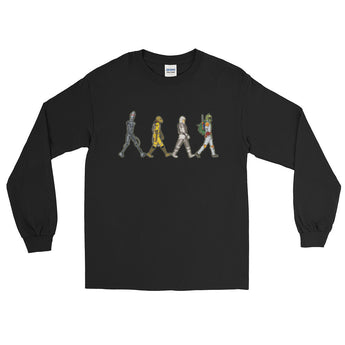 Bounty Road's Fab Four Beatles Star Wars Mash Up Parody Men's Long Sleeve T-Shirt + House Of HaHa Best Cool Funniest Funny Gifts