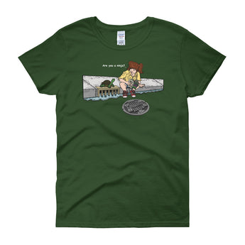 April in New York TMNT Parody Are You a Ninja? Sewer Turtle Women's Short Sleeve T-shirt + House Of HaHa Best Cool Funniest Funny Gifts