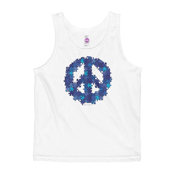Puzzle Peace Sign Autism Spectrum Asperger Awareness Kids' Tank + House Of HaHa Best Cool Funniest Funny Gifts