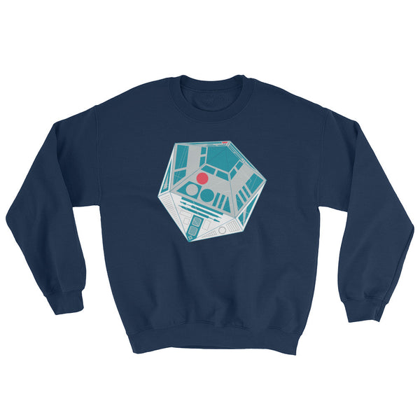 R2-D20 Star Wars Twenty Sided Gaming Die Men's Mash-Up Sweatshirt + House Of HaHa Best Cool Funniest Funny Gifts