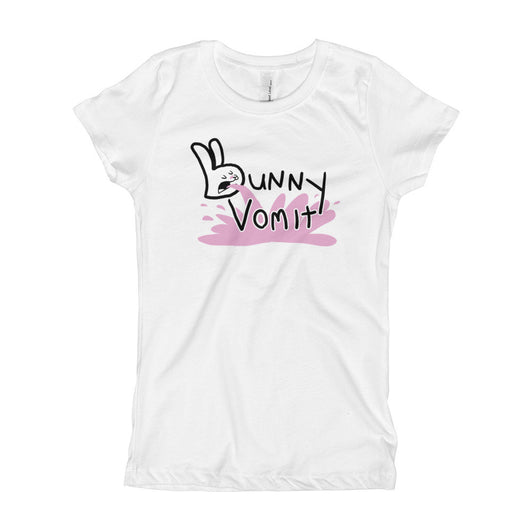 Bunny Vomit Log Girl's Princess T-Shirt + House Of HaHa Best Cool Funniest Funny T-Shirts