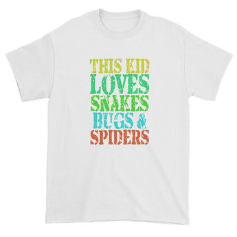 This Kid Loves Snakes Bugs Spiders Creepy Critters Short sleeve t-shirt + House Of HaHa Best Cool Funniest Funny Gifts