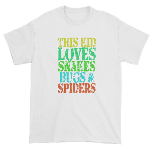 This Kid Loves Snakes Bugs Spiders Creepy Critters Short sleeve t-shirt + House Of HaHa