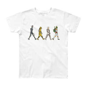 Bounty Road's Fab Four Beatles Star Wars Mash Up Parody Youth Short Sleeve T-Shirt + House Of HaHa Best Cool Funniest Funny Gifts