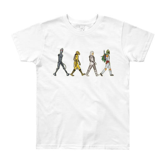 Bounty Road's Fab Four Beatles Star Wars Mash Up Parody Youth Short Sleeve T-Shirt + House Of HaHa Best Cool Funniest Funny T-Shirts
