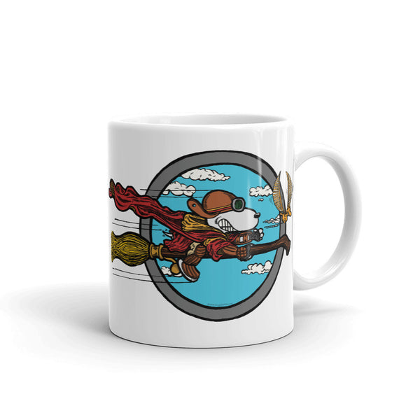 Wizard Flying Ace Ceramic Coffee Mug + House Of HaHa Best Cool Funniest Funny T-Shirts