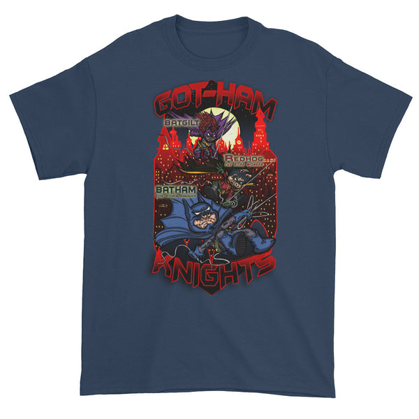 GOT-HAM Knights Batman Gotham Pig Parody Mash-Up Mens Short Sleeve T-Shirt