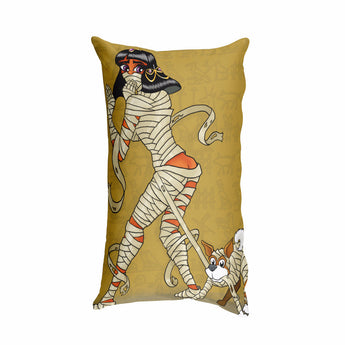 Mummy Pin-Up Rectangular Pillow + House Of HaHa Best Cool Funniest Funny Gifts