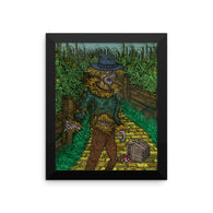 Walkers Of Oz Wizard of Oz Walking Dead Mashup Parody Framed Poster + House Of HaHa Best Cool Funniest Funny T-Shirts