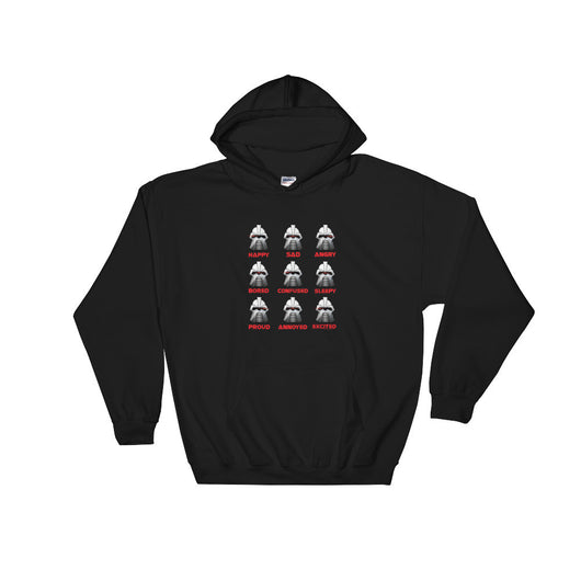 Moods Cylon Emotion Chart Mashup Parody Hooded Hoodie Sweatshirt + House Of HaHa