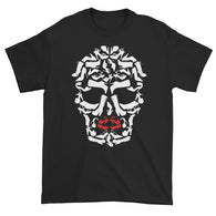 Shoe Monster Skull Art Short Sleeve T-Shirt + House Of HaHa Best Cool Funniest Funny T-Shirts