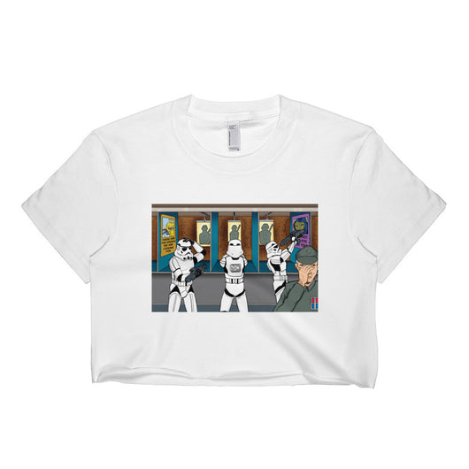 Troopers Shooting Gallery Parody Short Sleeve Crop Top + House Of HaHa