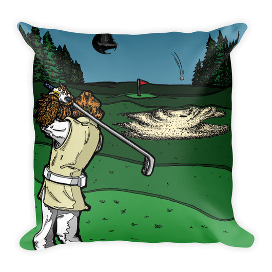 It's a Sand Trap Star Wars Golf Parody Square Pillow + House Of HaHa Best Cool Funniest Funny Gifts