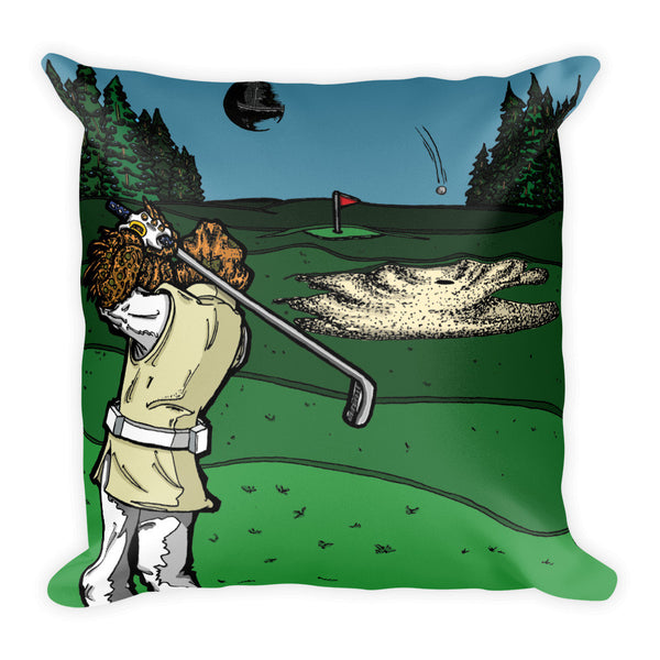 It's a Sand Trap Star Wars Golf Parody Square Pillow + House Of HaHa