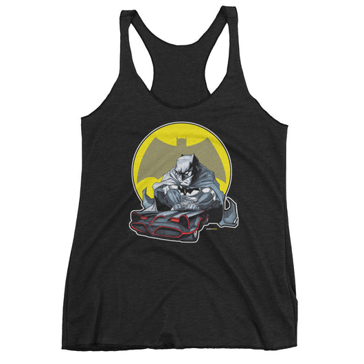 Lil' Batmobile Women's Tank Top + House Of HaHa Best Cool Funniest Funny T-Shirts