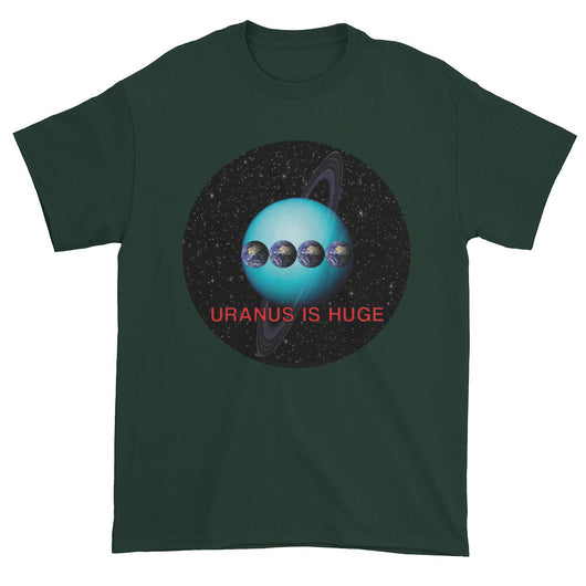 Uranus is Huge Funny Space Science Planet Astronomy Men's Short Sleeve T-Shirt