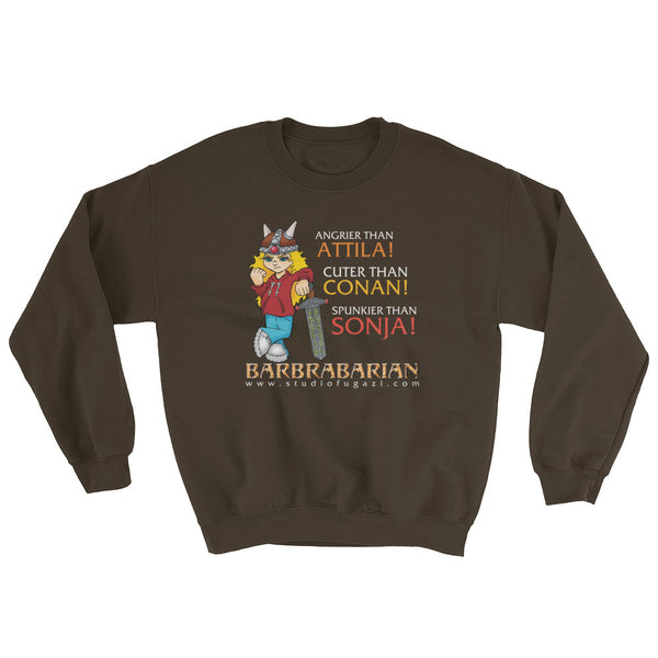 Barbrabarian Men's Sweatshirt + House Of HaHa Best Cool Funniest Funny Gifts