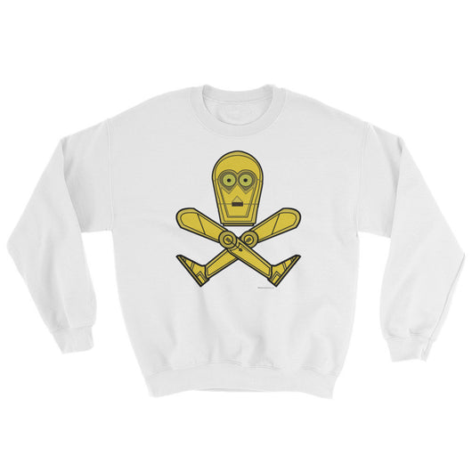 Droid Skull Crossbones Star Wars Pirate Rebels C3PO Parody Men's Sweatshirt + House Of HaHa Best Cool Funniest Funny T-Shirts