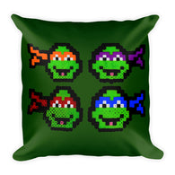 Ninja Turtles Perler Art Square Pillow by Aubrey Silva + House Of HaHa Best Cool Funniest Funny Gifts