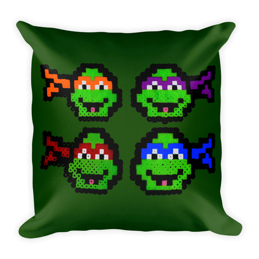 Ninja Turtles Perler Art Square Pillow by Aubrey Silva
