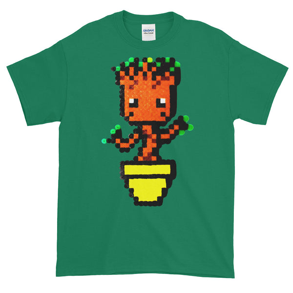 Baby Groot Perler Art Short-Sleeve T-Shirt by Aubrey Silva + House Of HaHa Best Cool Funniest Funny T-Shirts